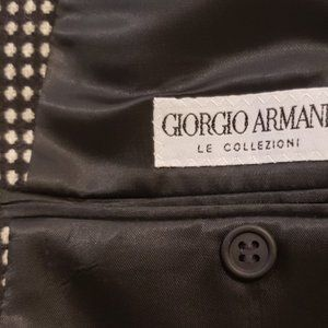 Giorgio Armani Suits & Blazers - Giorgio Armani black white sport coat 1980's 42R